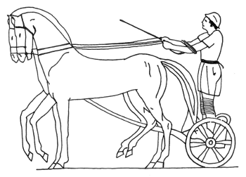 how to draw a chariot clipart easy drawing